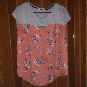 Floral cute and casual shirt